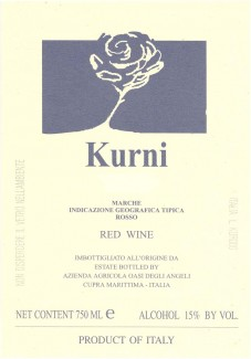 """Oasi degli Angeli, """"Kurni"""" Marche Rosso IGT"""