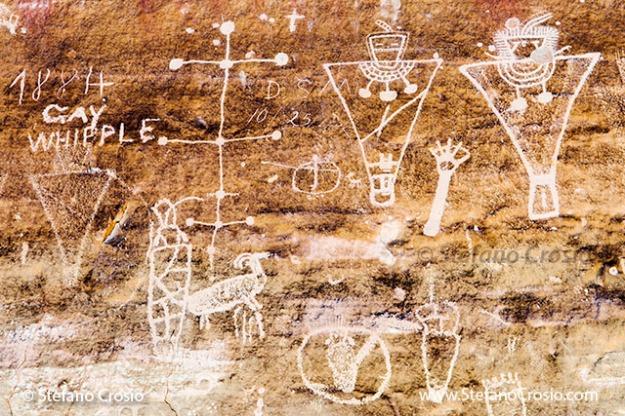 Sego Canyon (UT) Pictographs and Century Old Graffiti