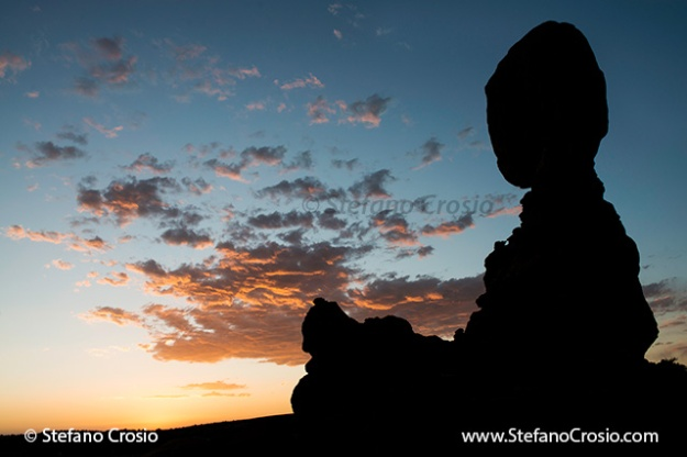 Balanced Rock at twilight