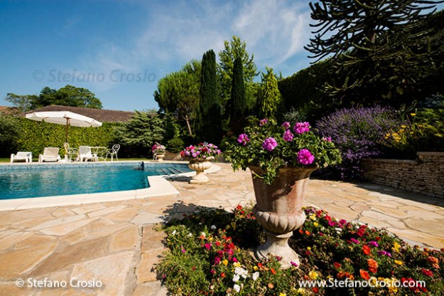 FRANCE, Montagne: The pool area at Château Saint Jacques Calon