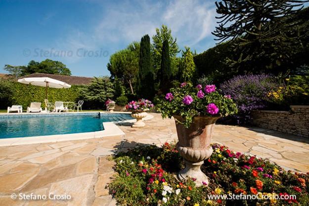 FRANCE, Montagne: The pool area at Château Saint Jacques Calon