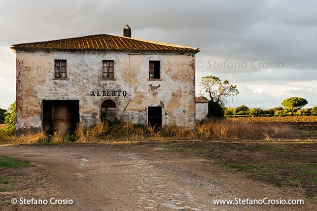 Italy, Bolgheri: One of the buidings in the Tenuta San Guido estate