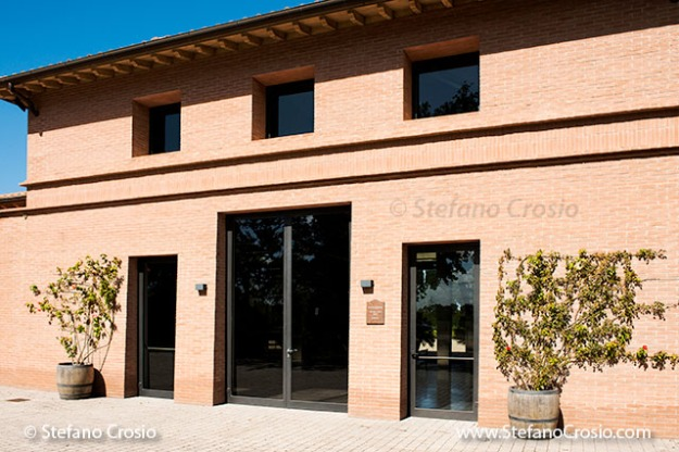 Italy, Bolgheri: Tenuta San Guido's wine aging cellar and wine tasting room