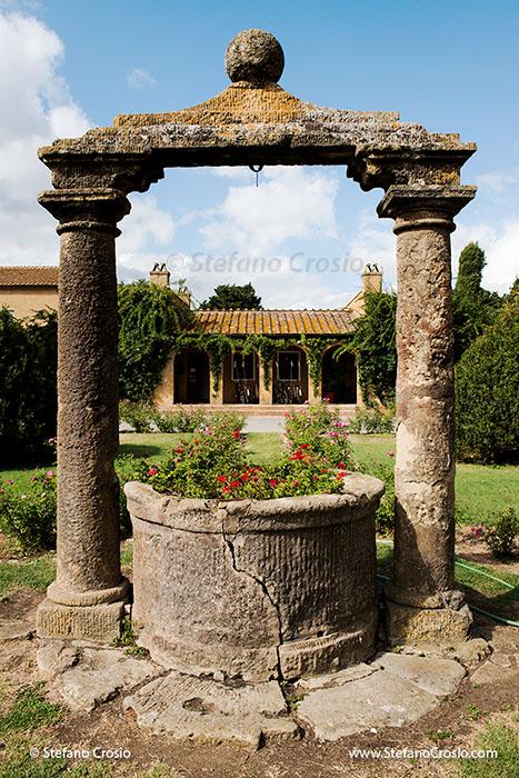 Italy, Bolgheri: An old well at Tenuta San Guido