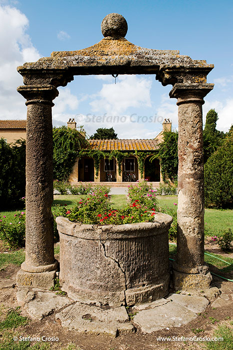 Italy, Bolgheri: An old well at Tenuta San Guido