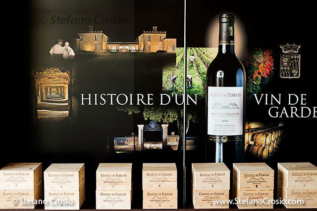 The wine tasting area of Chateau de Ferrand (Grand Cru Classé)