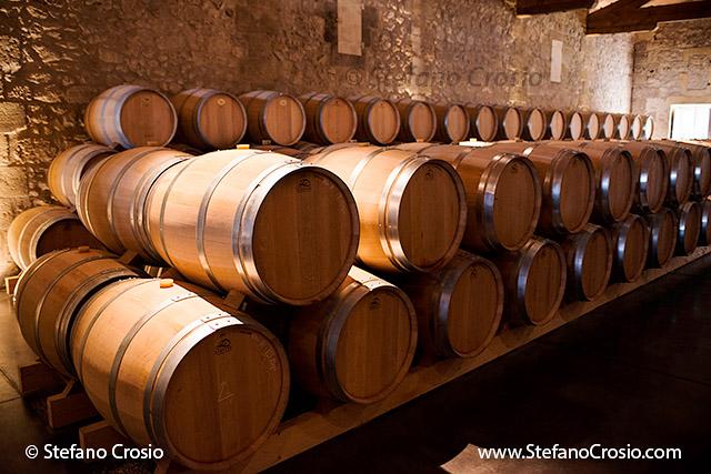 The barrique cellar at Chateau de Ferrand (Grand Cru Classé)