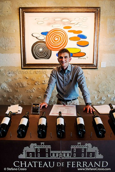The wine tasting area of Chateau de Ferrand (Grand Cru Classé) with their resident sommelier