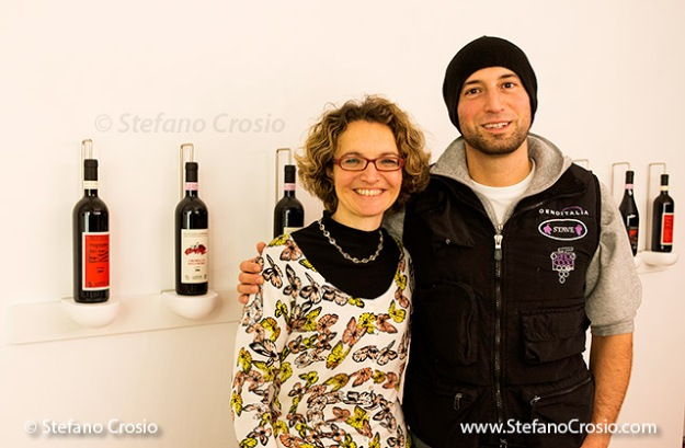 Ar.Pe.Pe.'s enologist and co-owner with her brother Emanuele in their tasting room